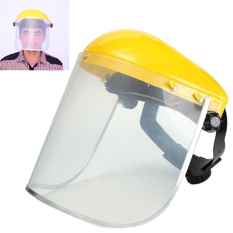 Adjustable Clear Face Mask Shield Visor Safety Workwear Eye Protection Gardening New Arrival chainsaw safety helmet w visor face protector hat eye protection free shipping outdoor brushcutter guard trimmer shield