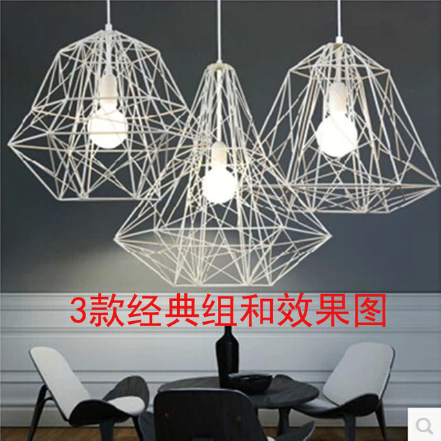 Modern wire cage restaurant bar table lamp study creative modern wire cage restaurant bar table lamp study creative personality living room chandelier light bars and greentooth Choice Image