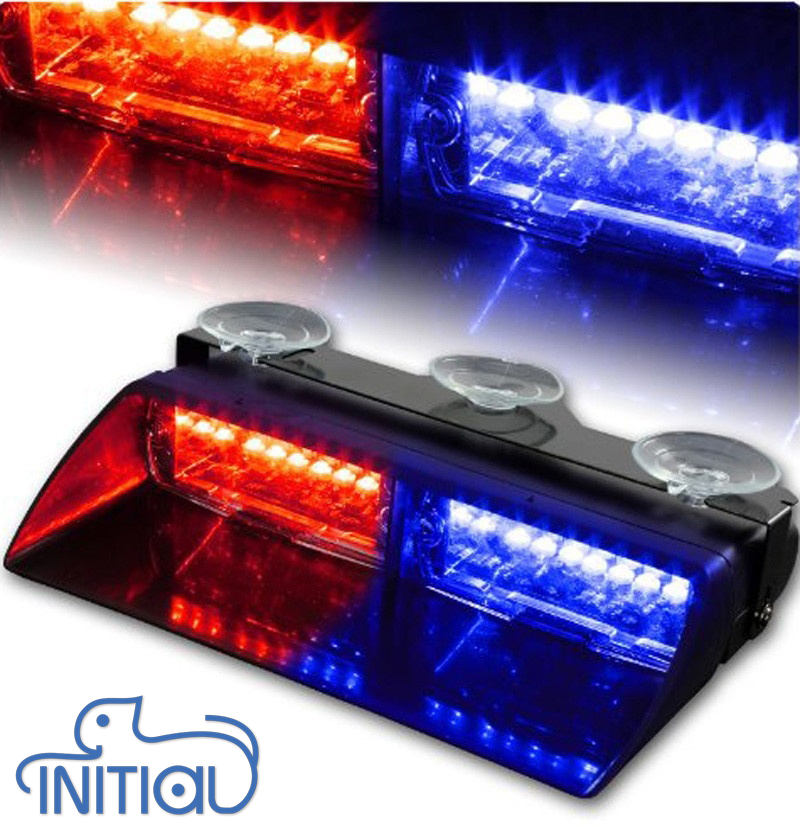 buy 16 led red blue car police strobe flash light dash emergency 18 flashing. Black Bedroom Furniture Sets. Home Design Ideas