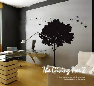 Free Shipping Wholesale And Retail Home Garden Wall Decor Sticker Decoration Vinyl Removeable Art Mural Home decor f-09