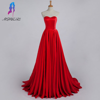 Couture Red Stain Prom Dresses Women Evening Gown Sweetheart Zipper Back Court Train Long Party Dress