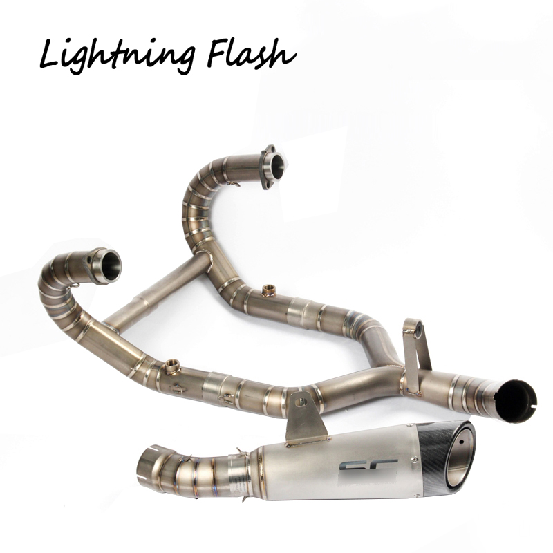 For BMW R nine T Titanium Alloy Front + Mid Exhaust Link Pipe + Stainless Steel Tail Pip ...