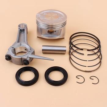 цена на 88MM Piston Rings Connecting Rod Oil Seals Kit For Honda GX390 188F 13HP E6500 5KW 6.5KW Gas Engine Motor Gasoline Generator