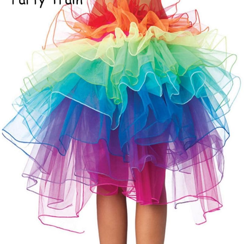 ae0476cd6 Sexy Woman skirts Adult Tulle Skirt Rainbow Tail Tutu Skirt Girls Cake  Party Dance Ballet Skirt Women Gauze Custume TUTU