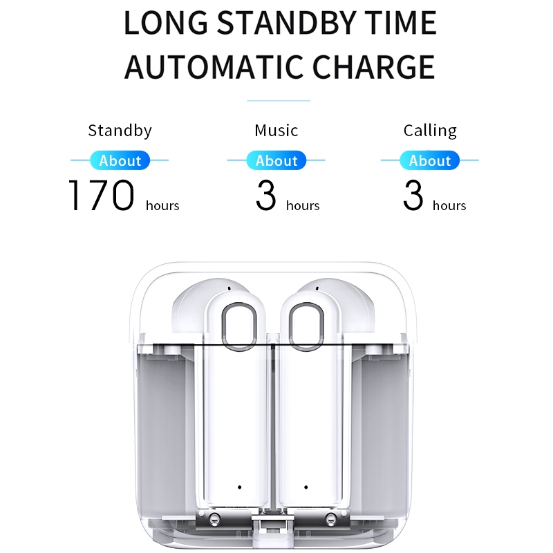 Joyroom T02 TWS Bluetooth 4 2 EDR Earphone with Charging Box For iPhone Galaxy Huawei Xiaomi HTC And Other Smartphones in Bluetooth Earphones Headphones from Consumer Electronics
