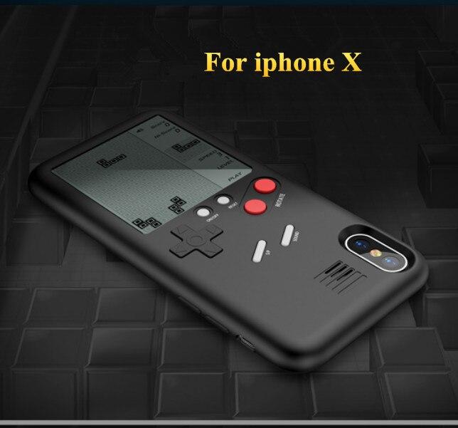 Único Multi Casos de Telefone Para O Iphone X 7 6 8 8 Mais casos TPU Caso Tetris Game Console Aparência Tampa de Proteção Presente Para Criança
