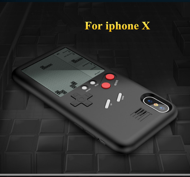 Unique multi Teléfono para iPhone x 7 6 8 8 más casos TPU Tetris consola apariencia protección cubierta regalo para niño