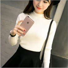 2017 Korean Women Turtleneck Knitted Sweater Christmas sweater Knitted Slim Pullover Ladies  Thin Long Sleeve sweater women