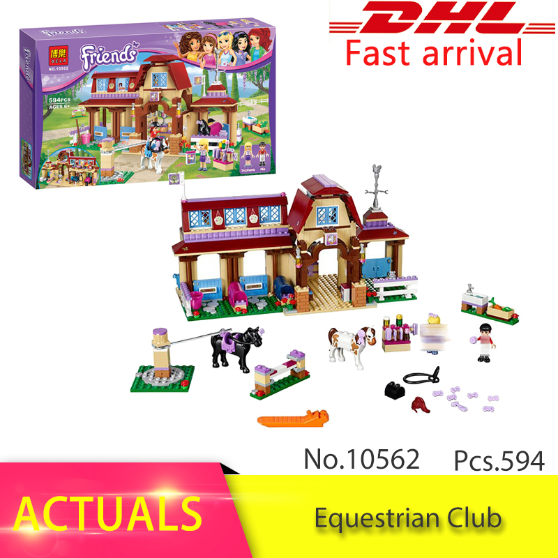 41126 Friends Series 594pcs  Heartlake Riding Club Building Blocks set Brick Toys For children Gift compatible 10562 2017 hot sale girls city dream house building brick blocks sets gift toys for children compatible with lepine friends