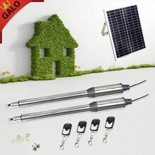 24VDC солнечный привод для распашных ворот комплект линейный рычаг автоматический con солнечная панель y контроллер(датчик, кнопка, свет, gsm открывалка опционально
