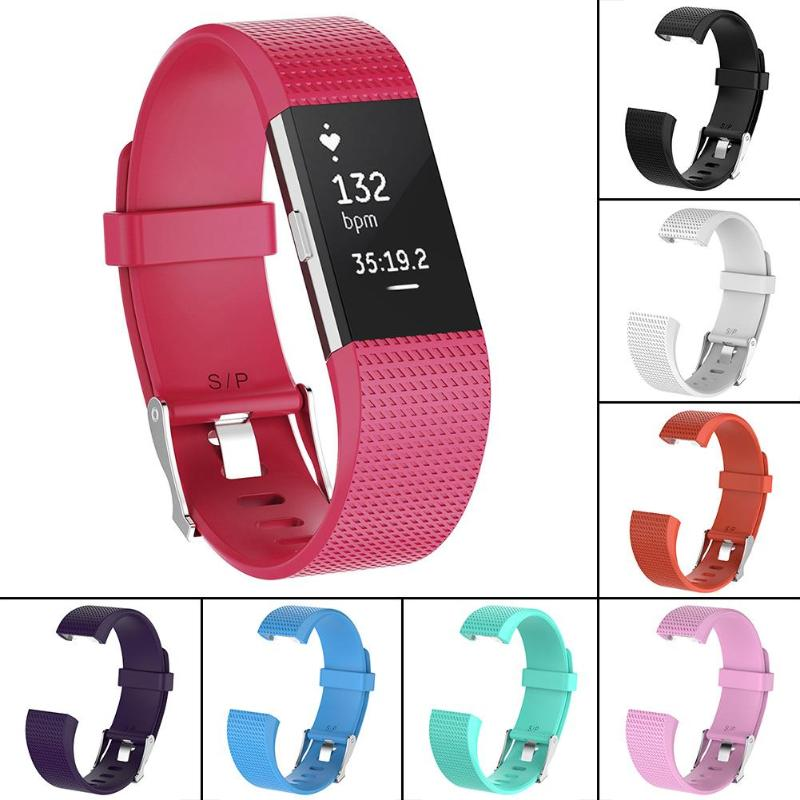 OSRUI Silicone Sport Watchband For Fitbit Charge 2 Band Bracelet Belt Replacement Strap Wristband Watch Accessories Promotion