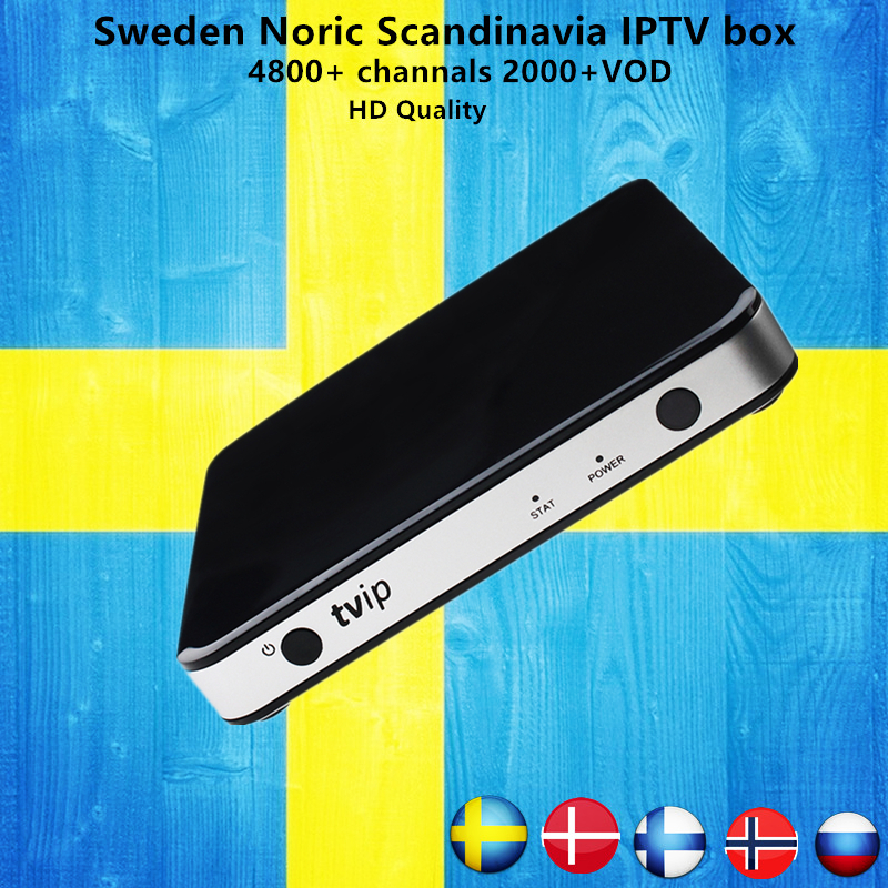 Sweden TVIP 605 Android/Linux Smart TV Box Amlogic S905X 2018 World Cup +5000 channels H.265 Norway Europe Pro IPTV KO MAG25X