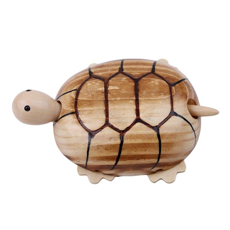 Simulation animal model Wooden Tortoise Squirrel Home Furnishing ...