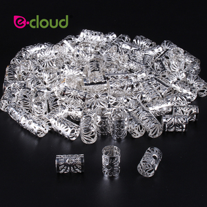 Image 5 - Wholesale 500Pcs 1000pcs/Pack Hair Styling Tools Dreadlock Hair Beads Adjustable Hair Cuff Clips 10mm Hole For Micro Hair Rings