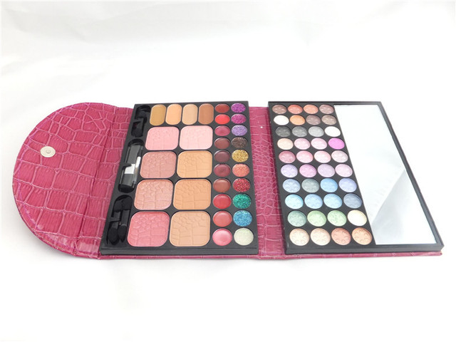 FreeShipping 72 Color Eye Shadow With PU Leather Powder Pigment Colorful Mineral Eye Shadow Makeup Palette With Mirror And Brush