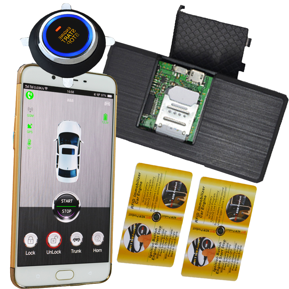 Car Invisible Alarm System With Remote Start Stop Function