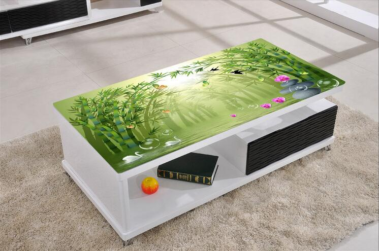 Us 12 52 31 Off Free Shipping 3d Bamboo Forest Computer Desktop Stickers Creative Stickers Waterproof And Dust Proof Wallpaper Mural In Wall