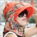 2016 Mujeres Del Estilo Del Verano Plegable Grande Ancho Brim Floppy Beach Sombreros Chapeu Aire Libre Viseras Casquillo Del Sol Plegable Sombrero Anti-Ultravioleta B-2191