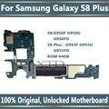 Оригинальный разблокированный для Samsung Galaxy S8 плюс G955FD G950FD G950F G955F G955U G950U материнская плата, материнская плата 64 Гб логические платы