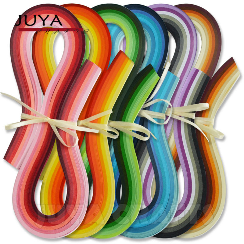 JUYA Papier Quilling 36 Shades Farben, 540mm Länge, 3/5/7/10mm breite, 720 streifen insgesamt DIY Papierstreifen Büttenpapier Handwerk