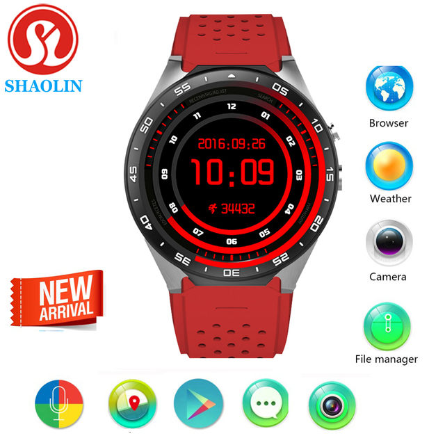 Шаолинь Умные часы 3 г WI-FI GPS Смарт-часы ОС Android 5.1 MTK6580 2.0MP Камера SmartWatch для Apple телефон Умная Электроника