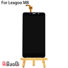 AiBaoQi 100% test 5.7 inch Touch Screen+1280X720 LCD Display Assembly Replacement For Leagoo M8/M8 Pro Android 6.0 MT6580A(China)