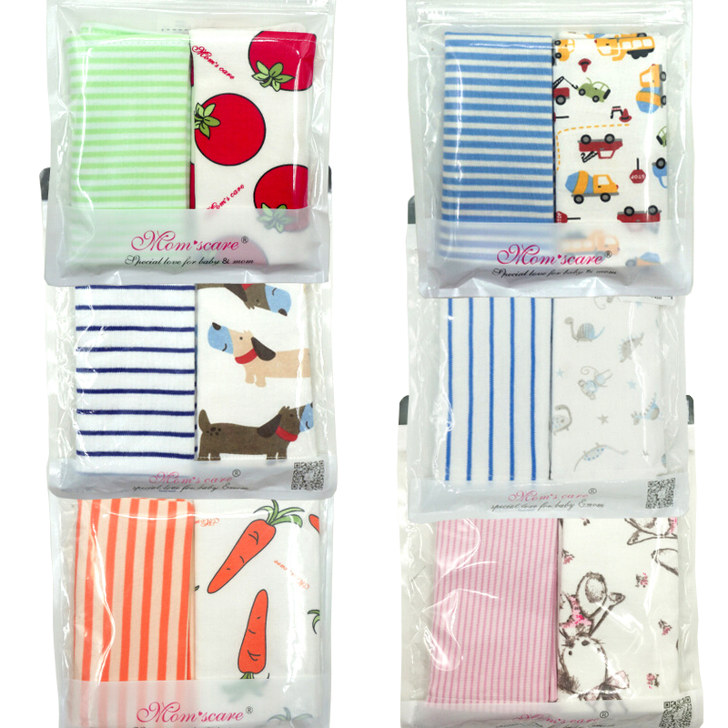 H01 Baby Small Square Newborn Baby Feeding Towel Cotton And Gauze Double-sided Double-layer Increase 30 * 30cm Two Pieces