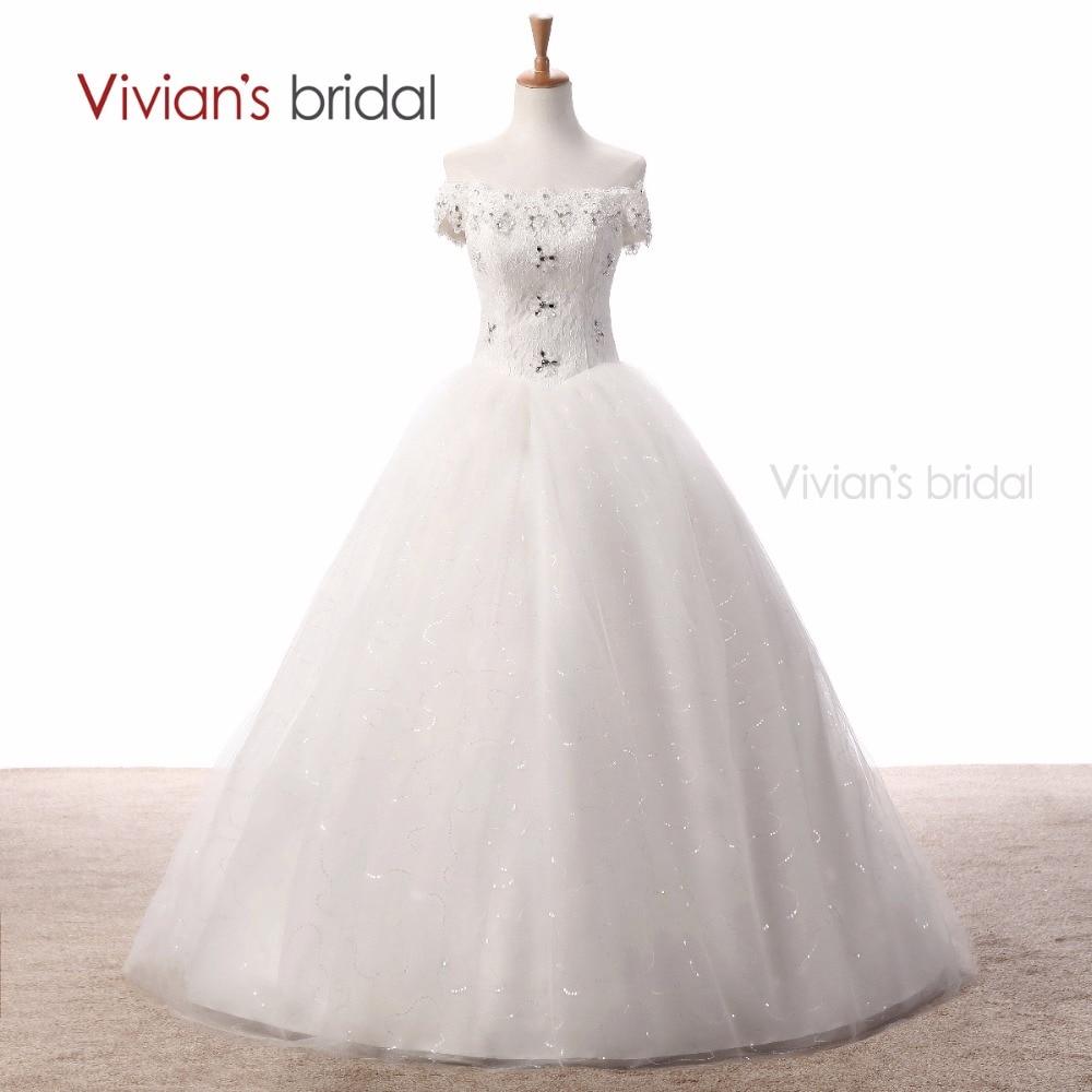 Vivian Wedding Gown: Vivian's Bridal Boat Neck Wedding Dresses Ball Gown Bridal