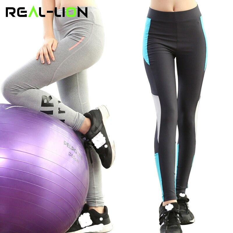 RealLion Exercise Trousers Sport Women Pants Slimming Korean Style Capris Running Girls Yoga