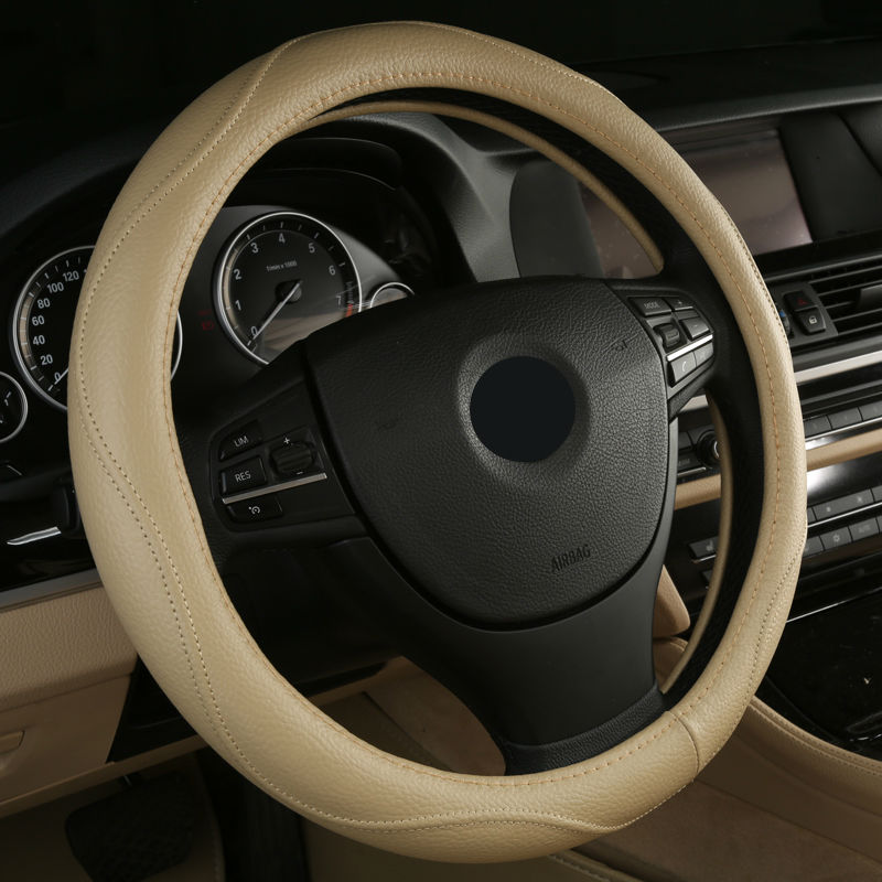 2017 Hot Sell Leather Auto Car Steering Wheel Cover Anti-catch for Hyundai creta getz grand starex i20 i30 i30 i40 free shipping leather car floor mat carpet rug for hyundai ix25 creta only for left steering wheel car