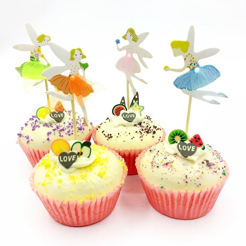 Aliexpress.com : Buy 24pcs Cute Cupcake Toppers Elf Wings