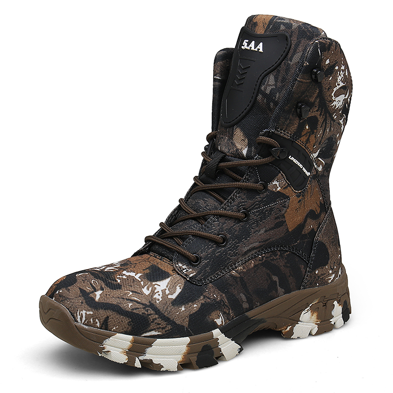 Men Hiking Shoes Professional High Top Hiking Boots Tactical Boots Brown Gray Outdoor Mountain Climbing Sports
