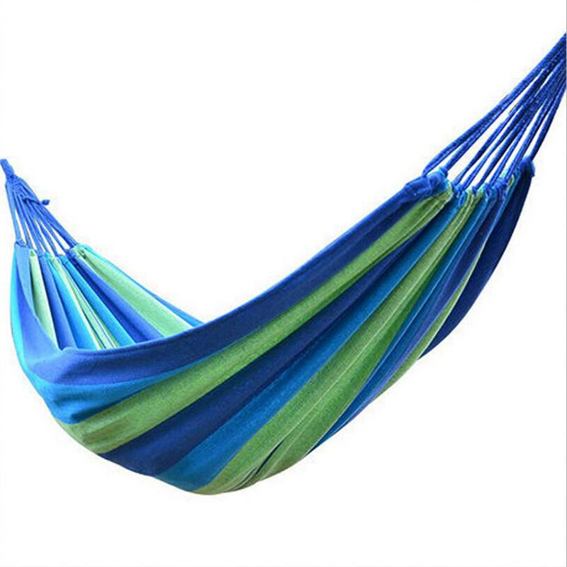 Outdoor Garden Hammock Portable  Hang BED Travel camping sleeping hammock Swing Canvas Stripe 280*100cm