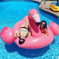 Men Women Gian Inflatable Pink Flamingo Pool Floats Swimming Pool Beach Toy Water Fun Air Mattresses Bed