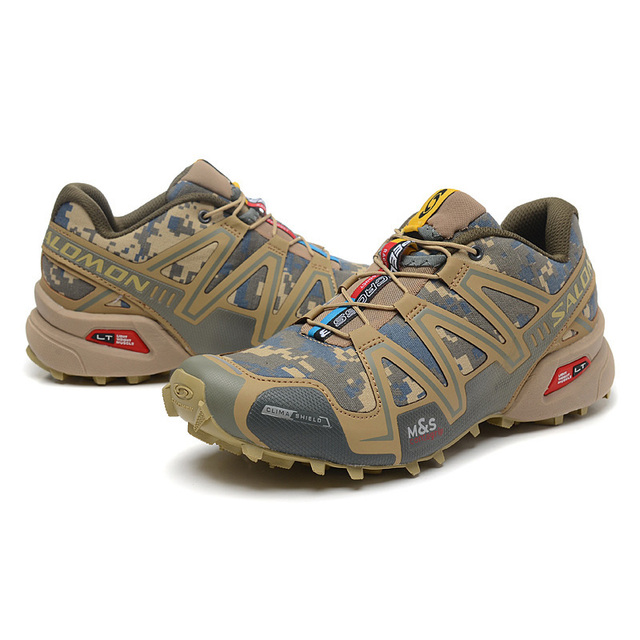 low priced 48db5 0ca42 2018 Salomon Shoes Men Speed Cross 3 CS Sneakers Men Camo Cross-country Running  Shoes ...