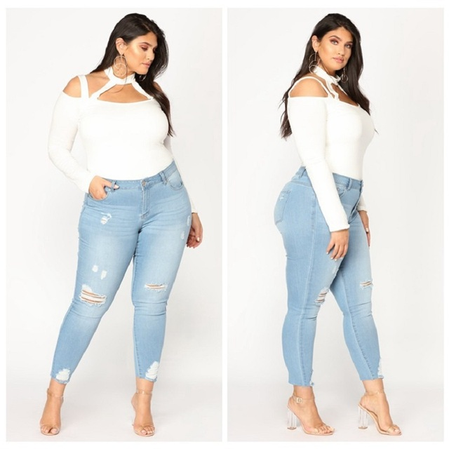 d62632d2d7c H Torn Ripped Jeans Women Push Up Stretch Plus Size Vintage Jeans Woman  Large Big Size Full Female Trouser 5xl 6xl 7xl 2019