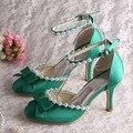 New Style Roxo Das Mulheres Saltos Bombas de Casamento Sapatos De Pérola