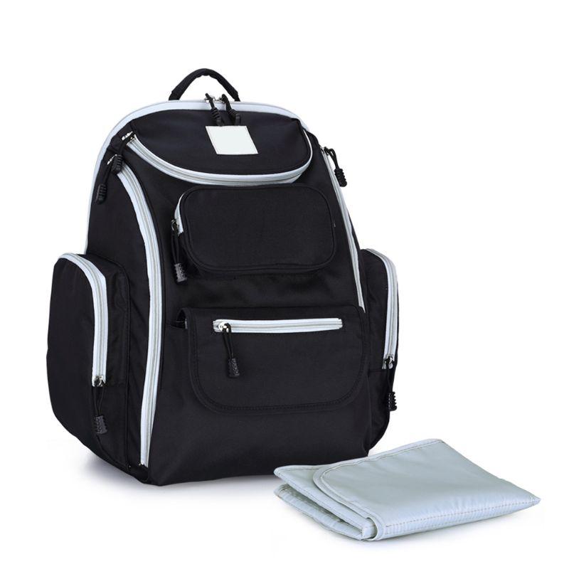 Сумка для подгузников для мамы, папы, мамы и ребенка, большой рюкзак для кормления, рюкзак для путешествий с меняющимся ковриком, мокрый чехо