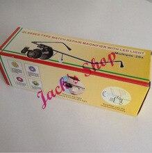 Envío gratis nuevo 20x gafas tipo gafas lupa lupa con luz LED del reloj del joyero de reparación
