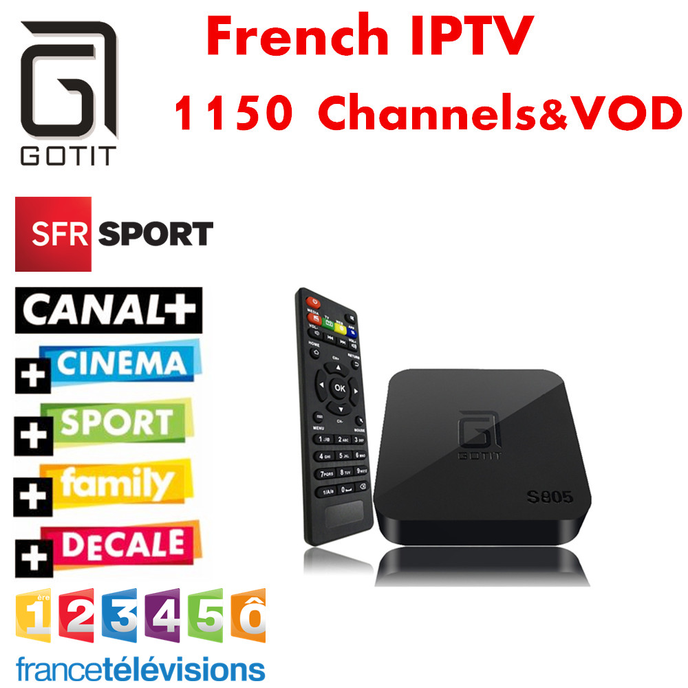 ФОТО France IPTV GOTiT S805 Android TV Box NeoTV QHDTV Europe Belgian Dutch IPTV Arabic African Islamic Turkish Kurdish SKY IT UK DE