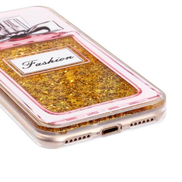 Fashion Bling Glitter Liquid cases For iPhone 8 6S 6 7 Plus 7plus Luxury Brand design Perfume Bottle Ice Cream Phone cases