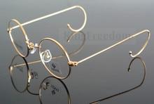 42 مللي متر خمر سلك دائري الذهب حافة إطار نظارات نظارات نظارات Rx able 727