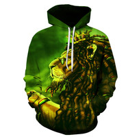 2017 New Hot Style Men S Hoodie Sweatshirt Man Interesting 3 D The Lion Harajuku Fashion