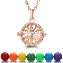 Pregnancy Necklace Aromatherapy Jewelry Music Angel Ball Caller Locket Snowflake Necklace Essential Oil Diffuser for Christmas mexico chime music bell angel ball caller locket necklace flower pregnancy necklace perfume aromatherapy essential oil necklace