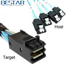 Internal Mini SAS SFF-8643 Target to 4 SATA 7pin Host hard disk 6Gbps data Server Raid Cable 50cm