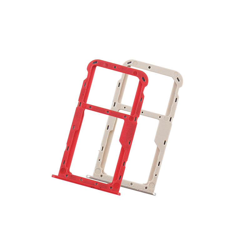ocolor For Huawei Honor 7X SIM Card Slot SD Card Tray Holder Adapter  Assembly Repair Parts For Huawei Honor 7X Mobile Phone
