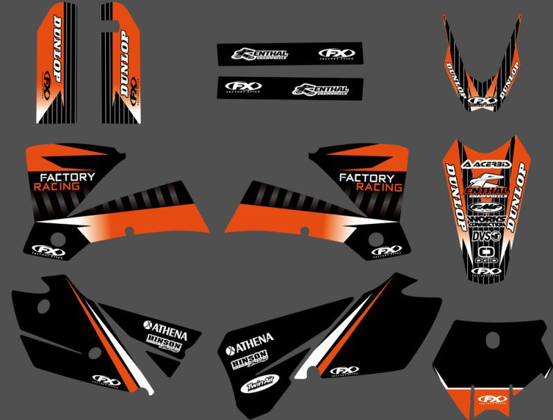 0294 NEW TEAM GRAPHICS WITH MATCHING BACKGROUNDS For KTM SX 125 200 250 300 450 525