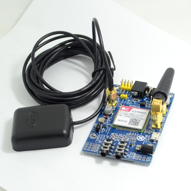 SIM808 instead of SIM908 module GSM GPRS GPS Development Board IPX SMA with GPS Antenna for  Raspberry Pi
