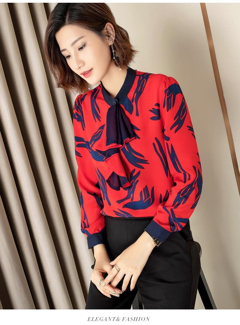 Mujeres Diseño Camisas Lujo Mujer La 2019 Moda Marca Ropa Y Las Blusas Fiesta Ws01406 Pista Europeo De Estilo AnwPq5UY