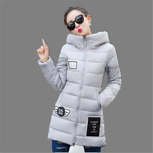 Winter Jacket Coat 2016 New Fashion Women Hooded Down Cotton Jacket Winter Thicken Big Yards Padded Jacket Slim Long Parka A2029